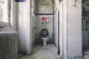 Toilette schmutzig